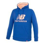 Polerón Niño New Balance Hoodie Logo Azul