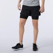 Short Running Hombre New Balance 7 inch Tenacity Negro