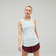 Polera Running Mujer New Balance Q Speed Jacquard Blanca